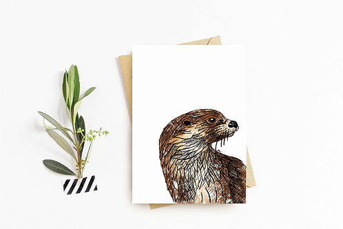 European Otter greeting card by Rebecca Sawyer at R.Sawyer Designs
