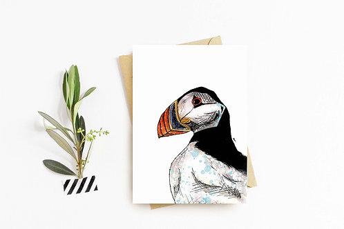 Atlantic Puffin greeting card by Rebecca Sawyer at R.Sawyer Designs