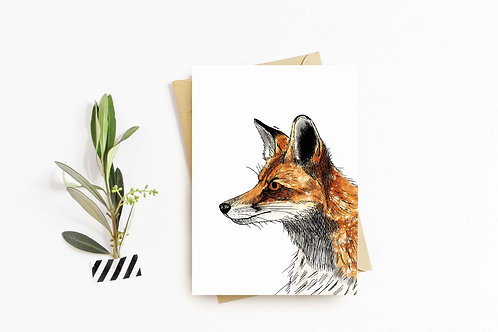 Red Fox greeting card by Rebecca Sawyer at R.Sawyer Designs