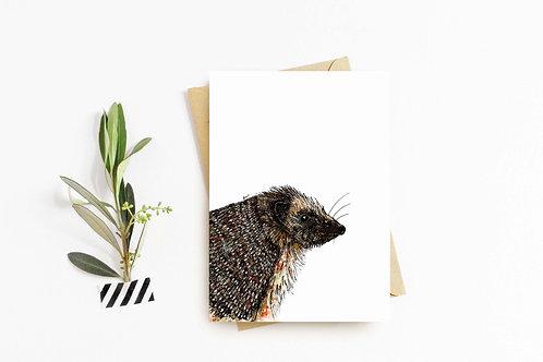 Hedgehog greeting card by Rebecca Sawyer at R.Sawyer Designs