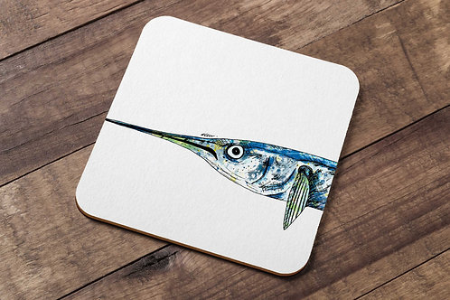 Garfish table coaster made in the UK by R.Sawyer Designs