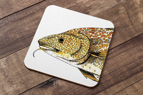 Atlantic Cod table coaster made in the UK by R.Sawyer Designs