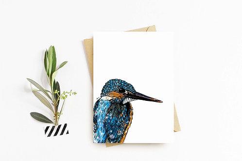 Kingfisher greeting card by Rebecca Sawyer at R.Sawyer Designs