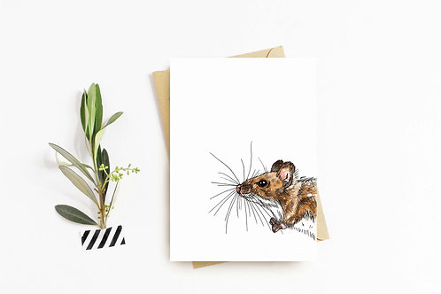 Harvest Mouse greeting card by Rebecca Sawyer at R.Sawyer Designs