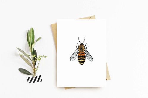 Honeybee greeting card by Rebecca Sawyer at R.Sawyer Designs