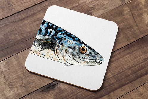 Mackerel table coaster made in the UK by R.Sawyer Designs