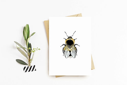 White-tailed Bumblebee greeting card by Rebecca Sawyer at R.Sawyer Designs