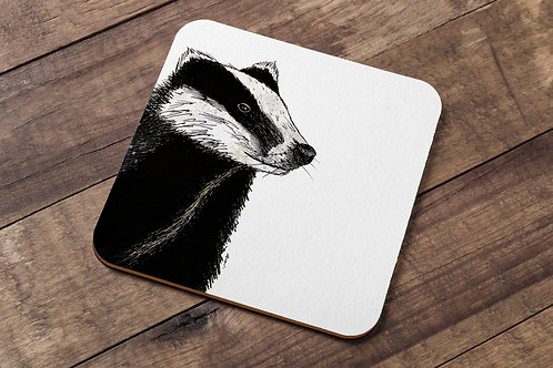 Badger table coaster made in the UK
