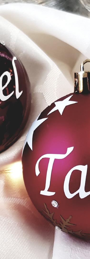 Weihnachtskugel Bordeaux