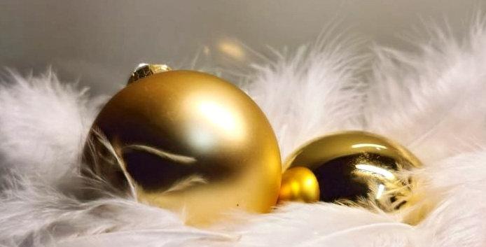 Christbaumkugel Glas (gold)