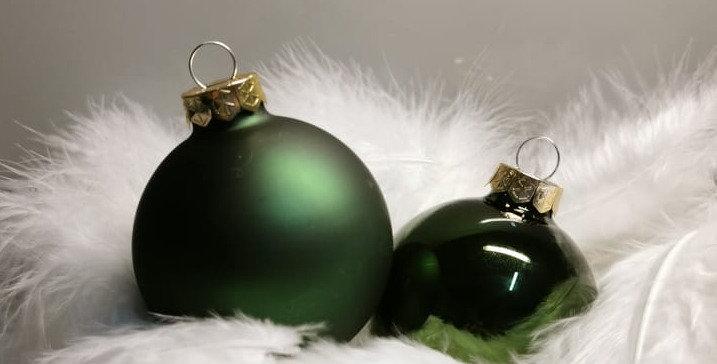 Christbaumkugel Glas (pine green)