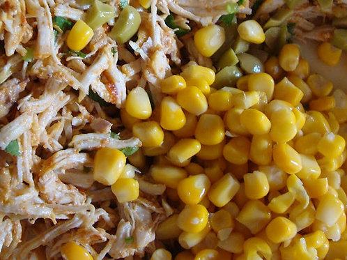 Peito de Frango  Desfiado com milho (PARA 2 a 3 Pessoas )