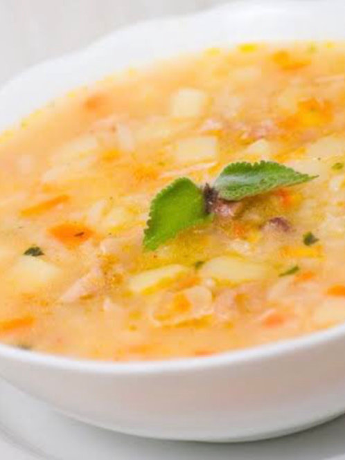 Canja com arroz de couve-flor Individual