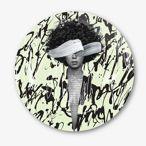 "Circular Glass Artwork -""Things I Should Have Said"""" (2021)"
