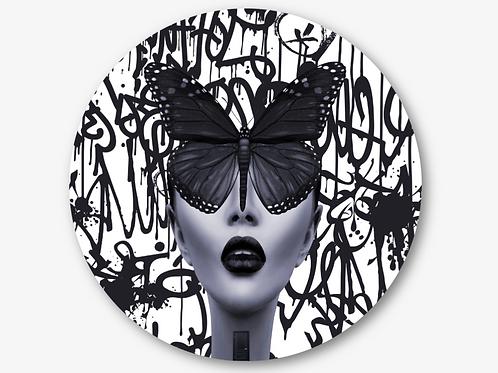 """Circular Glass Artwork -""""Butterfly Effect"""" (2021)"""