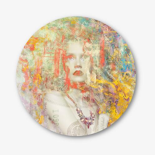 "Circular Glass Artwork -""Untitled Portrait"" (2021)"