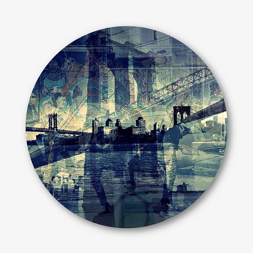 "Circular Glass Artwork -""No Sleep"" (2014)"