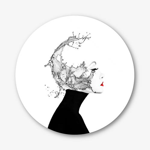 "Circular Glass Artwork -""Cascade"" (2020)"