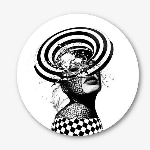 "Circular Glass Artwork -""Worth"" (2020)"