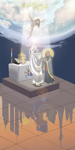 Father Sebastian ordination card