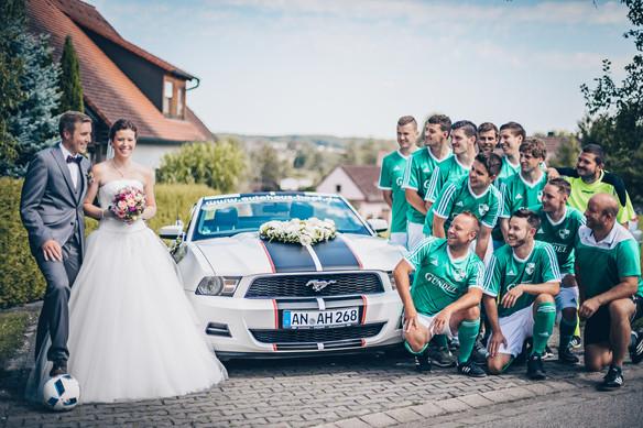 Fußball, Mustang, Hochzeit Hochzeitsfotograf Crailsheim