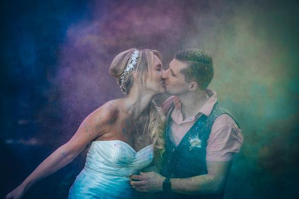 Holi-Farbstimmung Hochzeitsbilder Crailsheim