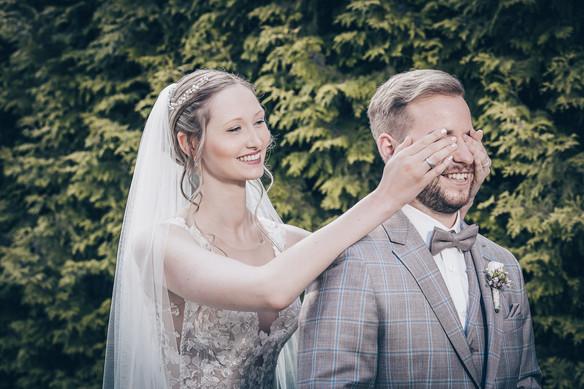 First Look des Brautpaares Hochzeitsfotograf Ellwangen