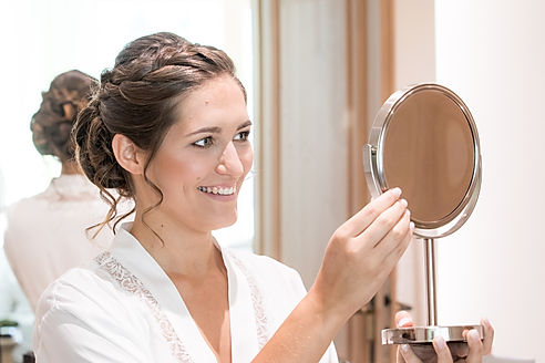 Hochzeitsfotografie, Schminken, Begleitung Braut, Vorbereitung