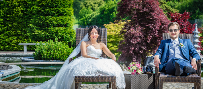 Wunderbare Hochzeit bei traumhaftem Wetter in Döckingen mit einem Brautpaar aus München