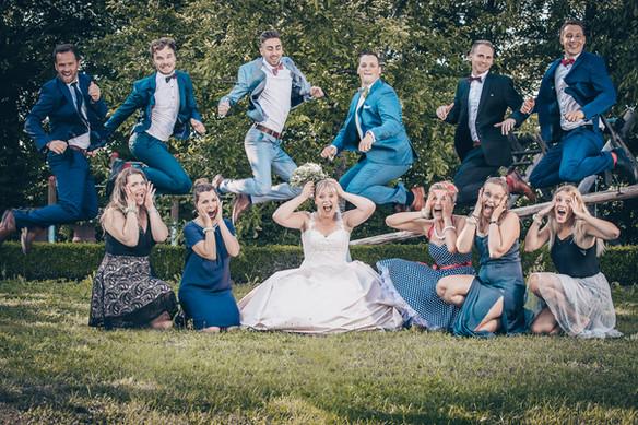 Kreatives Gruppenbild Hochzeitsfotografie Dinkelsbühl