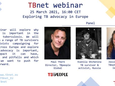 TBnet Webinar in March: Advocacy