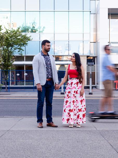 Post-wedding portraits in Central Memorial Park