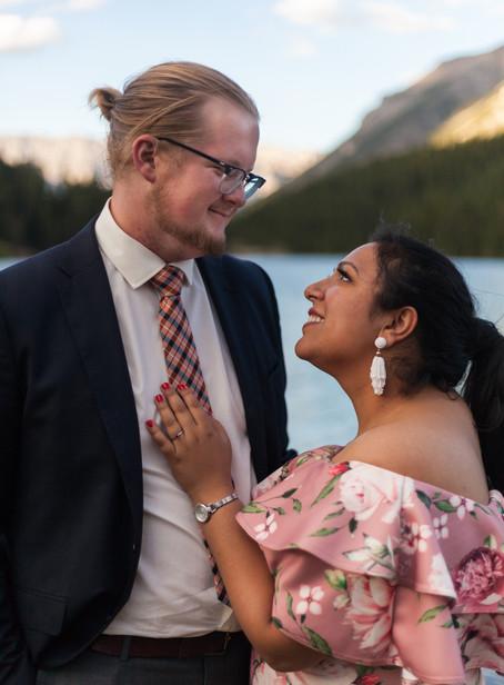 Gurman + Andrew's Romantic Banff Engagement