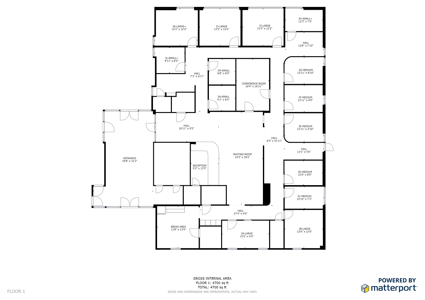 Floor Plan for Scarlet Oak Executive Offices