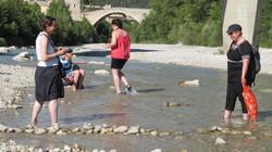 Katie in river
