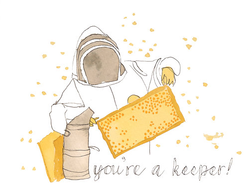 'You're a Keeper' Greeting Card