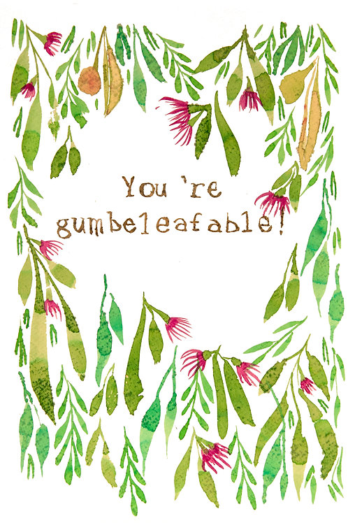 'You're Gumbeleafable' Greeting Card