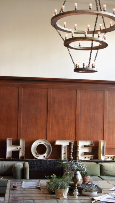 A photo of The Ace Hotel, a stylish business-class boutique hotel that features vintage furniture, original art and eco-friendly elements.