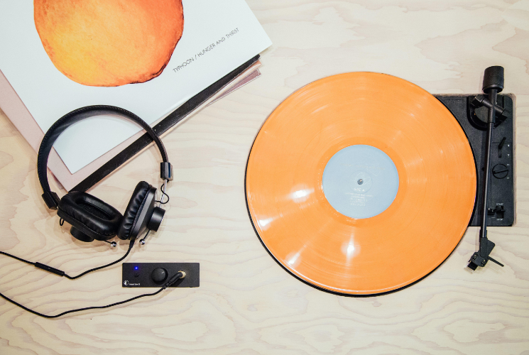 A record and a record player