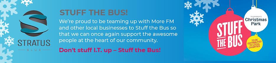 Stratus Blue Sponsors of Stuff the Bus 2020