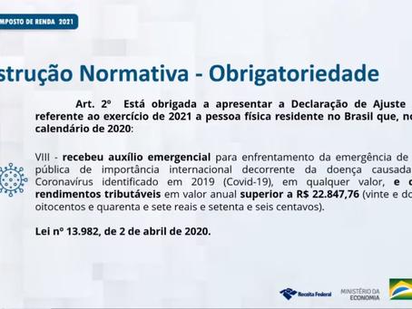 Beneficiário do auxílio emergencial terá de declarar IR neste ano, informa Receita