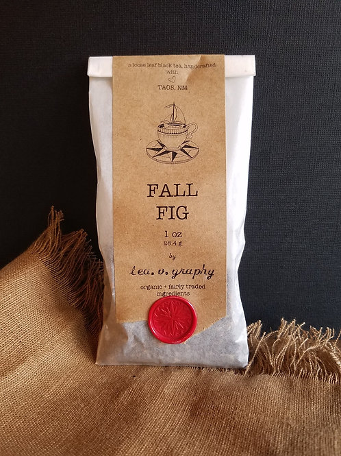 Organic Fall Fig Tea {black}
