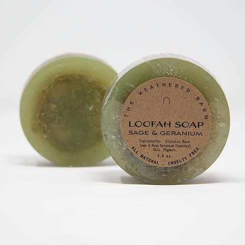 Sage & Geranium Loofah Soap