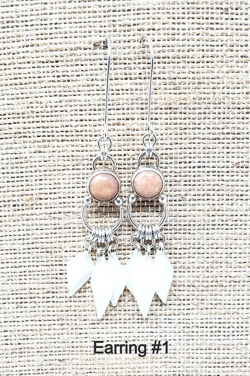 Fossil Coral Earring Collection 1