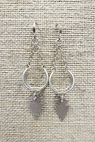 Sterling Cage Earrings with Arrowheads