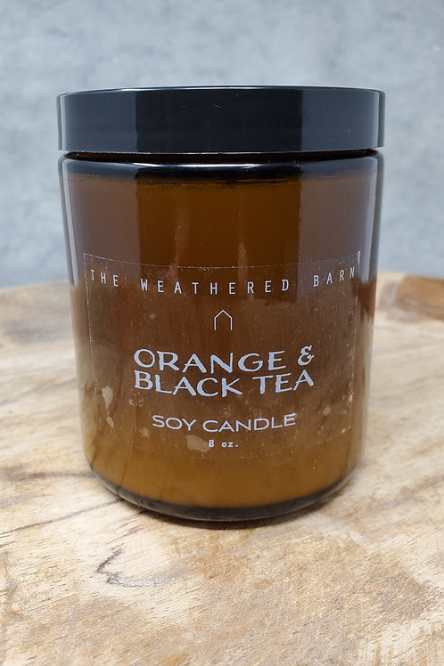 Orange & Black Tea Hand Poured Soy Candle