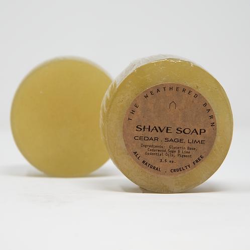 Cedar-Sage-Lime Shave Soap