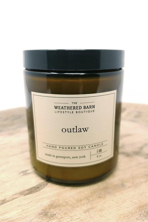 Outlaw Hand Poured Soy Candle