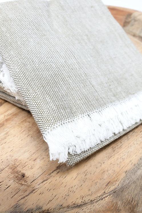 Natural Gray Woven Cotton Napkin