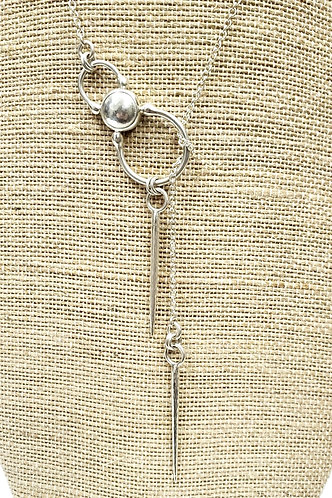 Hammered Dome & Spike Lariat